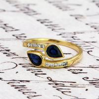 The Vintage Paired Snake Sapphire Ring (2 of 4)