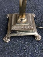 English Brass Corinthian Column Standard Lamp (8 of 8)