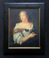 Wonderful 20thc Oil Portrait Painting of Lady In 17th Century Dress (2 of 11)