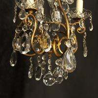 French Gilded Birdcage 4 Light Antique Chandelier (7 of 10)
