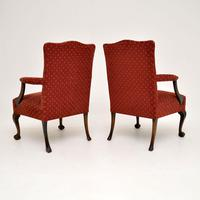 Pair of Antique Mahogany Chippendale Style Armchairs (9 of 12)