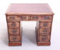 18th Century Mahogany Pedestal Writing Desk (5 of 12)