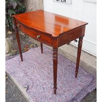 Georgian Mahogany Bow Front Side Table (6 of 6)