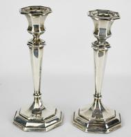 1912-1913 Birmingham William Hutton & Sons Silver Candlesticks (8 of 10)