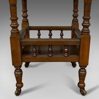 Antique Lamp Table, English, Walnut, Octagonal, Side, Games, Edwardian c.1910 (4 of 10)