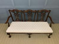 Mahogany Chippendale Style Triple Chair Back Settee (3 of 18)