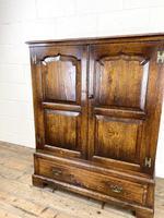 20th Century Reproduction Oak Side Cupboard (3 of 10)