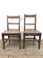 Four 19th Century Oak Back Bar Chairs (7 of 10)