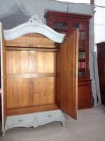 Painted French Carved Armoire in Plummet Grey (6 of 6)