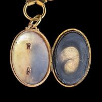 Antique Victorian Mourning Locket Collar Necklace Silver 18ct Gold Gilt Dated 1883 (8 of 9)