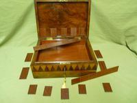 Large Tunbridge Ware Style Jewellery Box - Original Tray c.1870 (8 of 16)