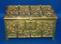 19th Century Gilt Brass Medieval Gothic Reliquary Style Casket by Adolph Frankau