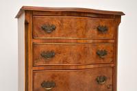 Antique Burr Walnut Serpentine Chest of Drawers (3 of 8)