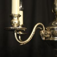 English Silver Plated 5 Light Antique Chandelier (4 of 10)
