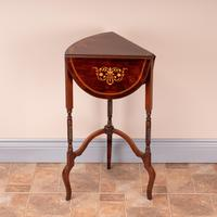 Edwardian Inlaid Rosewood Drop Leaf Occasional Table (19 of 23)