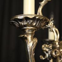 Italian Silver Gilded Triple Light Chandelier (3 of 10)