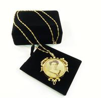 15 Carat Gold Seed Pearl Edwardian Portrait Locket with Necklace (2 of 9)