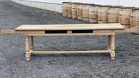 Large Bleached Oak Farmhouse Dining Table with Extensions & Storage (2 of 35)