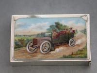 Edwardian Silver & Enamel Vintage Car Vesta Case by John Millward Banks, Chester, 1905 (2 of 15)