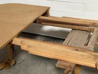 Huge Bleached Oak French Extending Dining Table (23 of 24)