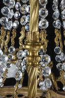 A Late 19th Century Gilt Bronze and Cut Glass Six Arm Chandelier (5 of 6)