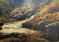 H Sinclair Jackson Superb 19th Century Watermill Landscape Oil Painting (7 of 14)