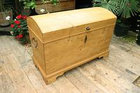 Wow! Big! Old Pine Domed Blanket Box / Chest / Trunk - We Deliver! (3 of 10)
