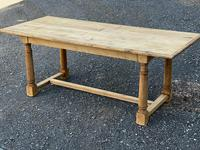 Rustic Bleached Oak Farmhouse Dining Table (19 of 25)
