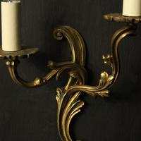 French Pair Of Gilded Twin Arm Wall Lights Oka04080 (3 of 10)