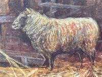 "Watercolour ""Tending The Sheep"" By Bertha Rhodes RA Rca Exh 1905 -1912 (23 of 41)"
