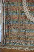Large Vintage Middle Eastern Embroidered Silk Wall Hanging (9 of 10)