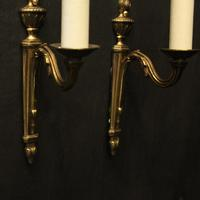 French Pair of Single Arm Antique Wall Lights (8 of 10)