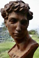 Weathered Cast Iron Statue of Michelangelo's David (7 of 8)