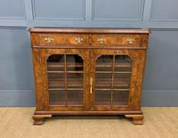 Burr Walnut Bookcase or Side Cabinet (15 of 18)