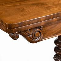 Companion Pair of William IV Flame Mahogany Card Tables (7 of 13)
