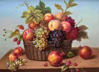 Original Vintage Still Life of Fruit & Flowers - 'Tom Caspers' 20thc British (7 of 12)