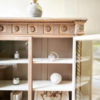 Antique Victorian Bookcase / Cabinet / Bookshelf (7 of 7)