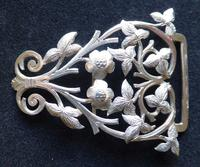Victorian 1887 Hallmarked Solid Silver Nurses Belt Buckle Rare Hand Cut Design (3 of 11)