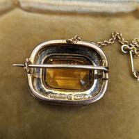 Antique Edwardian 9ct Gold Citrine & Pearl Brooch, Chester 1902 (4 of 9)
