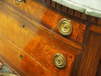 Dutch Marble Top Burr Elm Commode / Chest (7 of 13)