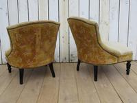 Pair of French Boudior Tub Armchairs for re-upholstery (3 of 8)