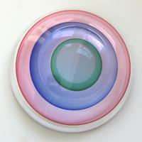 "Large 9"" Murano Sommerso Luigi Onesto Cedenese Coloured Bowl c.1960+ (7 of 10)"