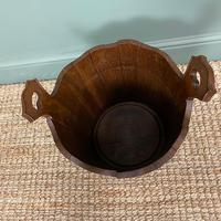 Spectacular 19th Century Victorian Oak Antique Log Bucket (5 of 5)