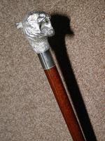 Vintage Hallmarked 925 Silver Walking Stick / Cane With Snarling Tiger Handle 91cm (6 of 21)