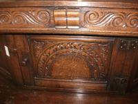 Ornately Carved Oak Court Cupboard (4 of 4)