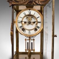 Antique Mantel Clock, French, Gilt Bronze, Ormolu, Brocot Escapement, Circa 1900 (2 of 12)