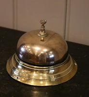 Large Victorian Brass Counter Bell