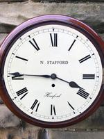 Antique Mahogany Fusee Dial Clock Stafford  Hereford (5 of 11)