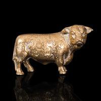 Antique Decorative Bull Figure, English, Brass, Desk, Display Statue, Victorian (2 of 12)