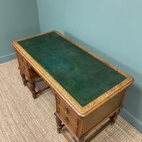 Victorian Oak Antique Pedestal Desk Circa 1890 (6 of 9)